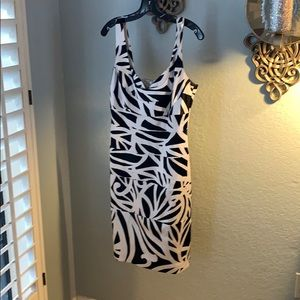 Whbm satin fitted dress size 8.